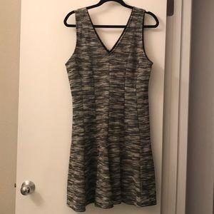 Banana Republic Black and White Printed Knit Dress